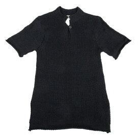 ヨウジヤマモト プール オムYohji Yamamoto POUR HOMME 1Bニットポロシャツ 黒3【中古】 【メンズ】