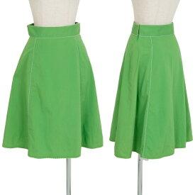 ポールスミス ブラックPaul Smith BLACK 端装飾切替スカート 緑38【中古】 【レディース】