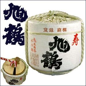 日本酒・樽酒 旭鶴・菰樽 純米酒 36L入(外装2斗樽) 結婚式、披露宴などのイベントの鏡割りに♪