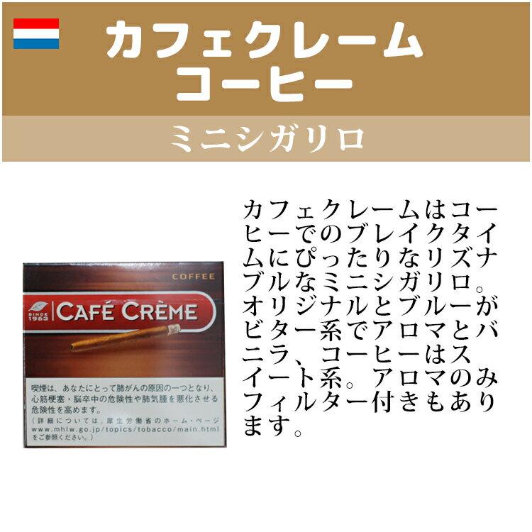 【ドライシガー】【箱買い・10個入】カフェクレーム コーヒー ・10本入・ミニシガリロ系・オランダ産