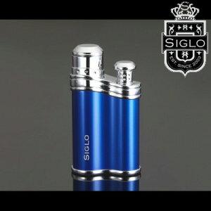 喫煙具・シガーライター シグロ ビーンシェイプ ブルー・バーナーライター