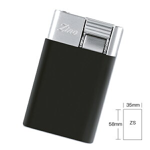 喫煙具・シガーライター ジノ ジェットフレーム式・ターボライター ZS 色:ブラック(スモールタイプ)