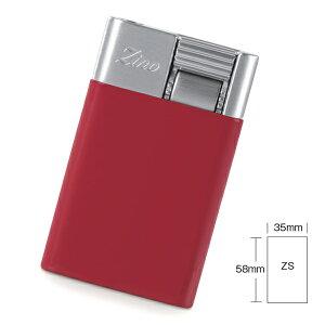 喫煙具・シガーライター ジノ ジェットフレーム式・ターボライター ZS 色:レッド(スモールタイプ)