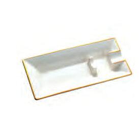 喫煙具・シガー用灰皿 ローランド・ホワイト 1本用 (陶器製)