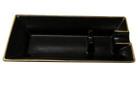 シガーアシュトレイ シガー用灰皿・陶器製 1本用 ローランド・ブラック