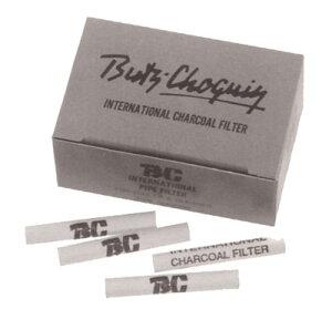 喫煙具・パイプ用フィルター BC 6ミリ・パイプフィルター (グレーの箱)(40本入り)チャコールタイプ