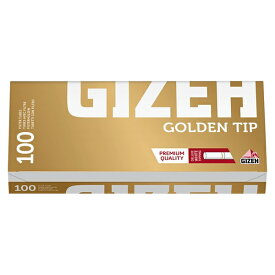 シャグ用・さや紙 ギゼ・フィルターチューブ ゴールデン・チップ100(100本入)