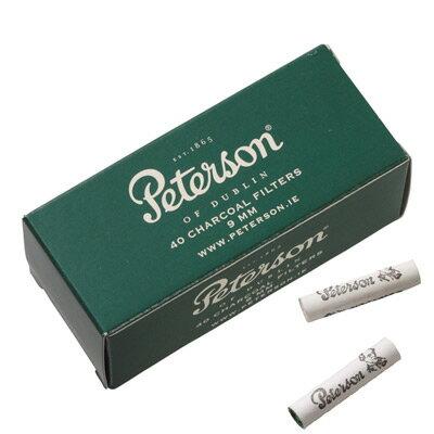 パイプ用・フィルター ピーターソン パイプタバコ用フィルター 9ミリ パイプフィルター ・40本入