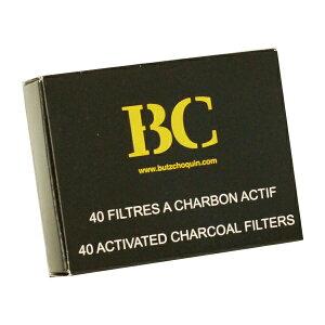 喫煙具・パイプ用フィルター BC 9ミリ・パイプフィルター (黒い箱)(40本入り)チャコールタイプ