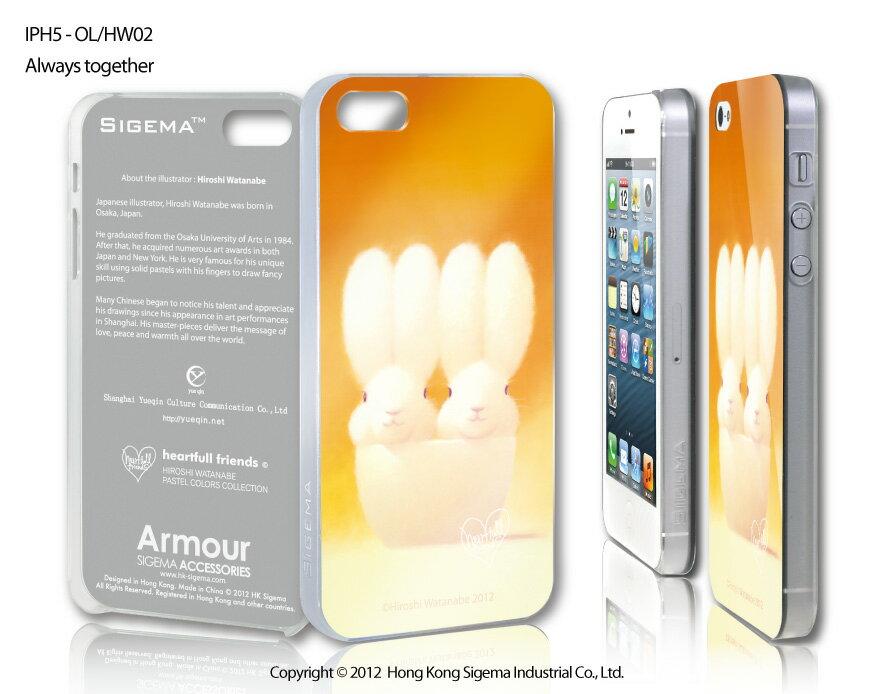 【送料無料】【iPhone5 iphone5s iPhoneSE ケース】【SIGEMA】【iphone 5 5S SE カバー】 Armour IMD/Always together アイフォン アイフォンカバー スマホ アイフォーン うさぎ パステル ウサギ 渡辺宏
