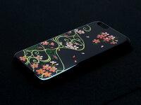 【送料無料】【iPhone5iPhone6ケース和柄】【iphone5siphone6ケース花】SAKURA桜流水ラインストーン花はなさくら着物アイフォン5和柄デコ電スマホアイフォーン5和服花柄蒔絵日本伝統海外土産