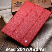 【正規品】【JISONCASEiPad2017第五世代iPadAirAir2ケース】JS-ID6-04C本革【送料無料】ipadケースシボオートスリープレザー2マイク
