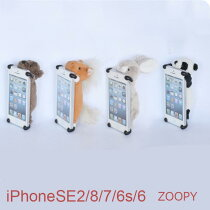 ZOOPY送料無料iPhoneSE28766sケースクマパンダウサギウマズーピーiPhoneSE2iphone7iPhone8ケースかわいいぬいぐるみカバーアイフォンスマホアイホン