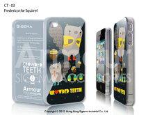 【送料無料】【iPhone4Sケース】【iphone4ケース】【SIGEMA】Fredericthesquirrel/iphone4sイラストケース/アイフォン4sイラスト/iphone4カバー/スマホカバー/4s/アイフォーン4sイラスト/ArmourIMD/リスのイラスト/りす