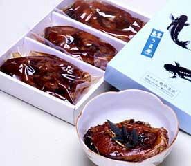 魚甲本店「佐久鯉うま煮」3切入り