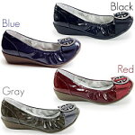 【プリーズ・アーチ】9-2108プリーズアーチ月間売り上げNo.1!3cmヒールのぺたんこ靴。