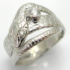【ポイント5倍以上還元中】23日23:59までシルバー スネーク メンズ リング 蛇 誕生石 指輪