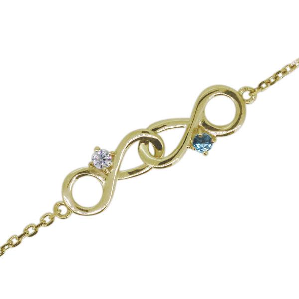【送料無料】ブレスレット 4月誕生石 ダイヤモンド インフィニティ 無限 10金 アンクレット【RCP】10P06Aug16