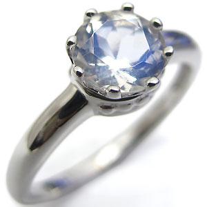 ロイヤルブルームーンストーン プラチナ リング 王子の王冠 クラウン 指輪【jwl0915】