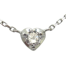 ハートネックレス・一粒・10金・ダイヤモンド・ネックレス