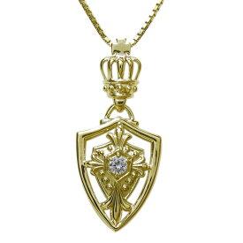 【15%OFF】4日20時〜 ダイヤモンド クロス ネックレス 十字架 ペンダント 王冠