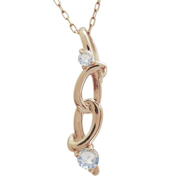 【送料無料】ロイヤルブルームーンストーン Infinity ネックレス K18 ペンダント インフィニティ【RCP】10P06Aug16