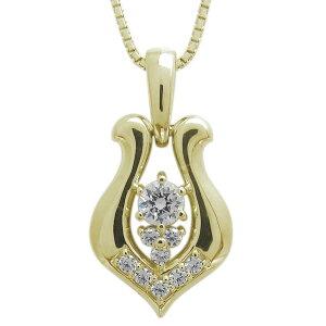 ダイヤモンド 馬蹄ネックレス メンズ ホースシューペンダント K10