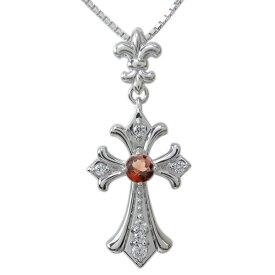 クロス・ペンダント・十字架・ネックレス・プラチナ・メンズ・選べる天然石