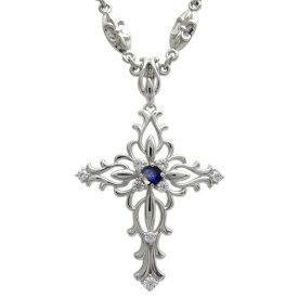 プラチナ・メンズネックレス・誕生石・百合の紋章・ネックレス・クロス・ペンダント