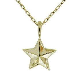 【あす楽対応】ネックレス メンズ ゴールド 18金 K18 星 スター ペンダント シンプル 星モチーフ