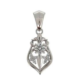 ペンダントトップ メンズ シルバー 天然石 ダイヤモンド ユリの紋章