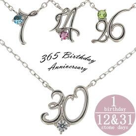 【ポイント5倍】24日20時から 誕生日 数字 ナンバー ネックレス プラチナ 誕生石 ペンダント プレゼント