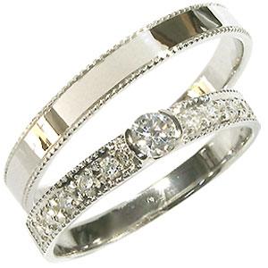 【送料無料】プラチナ・ペアリング・ダイヤモンド・結婚指輪・マリッジリング【RCP】10P06Aug16