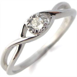指輪・ダイヤモンド・一粒・シンプル・K18・リング