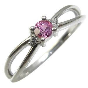 プラチナ・ピンクサファイア・リング・一粒・ピンクサファイヤリング・指輪