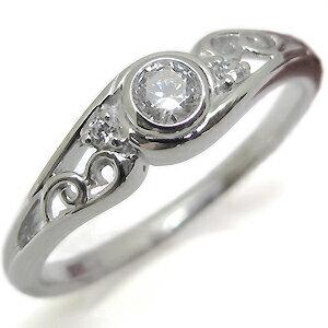 プラチナ・ダイヤモンド・爪なし・エンゲージリング・一粒・ダイヤモンドリング・婚約指輪