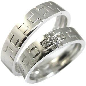 クロス・ピンキーリング・プラチナ・ダイヤモンド・地金リング・ペアリング・結婚指輪