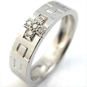 結婚指輪・クロス・ピンキーリング・K18・ダイヤモンド・ペアリング