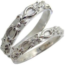 結婚指輪・マリッジリング・天然ダイヤモンド・ペアリング・百合の紋章・プラチナ・リング