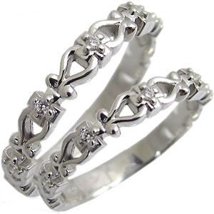 クロスリング・結婚指輪・ペアリング・マリッジリング・18金・ダイヤモンド