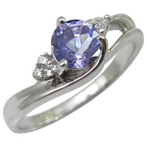 指輪・タンザナイト・リング・18金・大粒・シンプル・タンザナイトリング