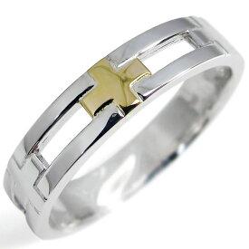 シルバーリング・クロスリング・結婚指輪・K18・ピンキー・リング