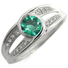 婚約指輪 大粒 エンゲージリング エメラルド 5月誕生石 18金 リング
