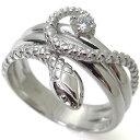 ダイヤモンド スネーク 10金 ヘビ 蛇 指輪