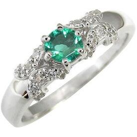 エメラルド K10 婚約指輪 エメラルドリング 一粒