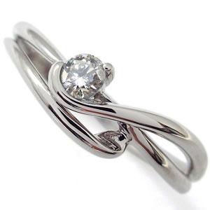 プラチナ・婚約指輪・ダイヤモンド・エンゲージリング・シンプル・エレガント