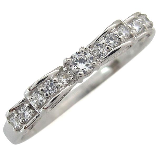 【リボン ダイヤ リング】K10 ダイヤモンド リング 指輪 レディース