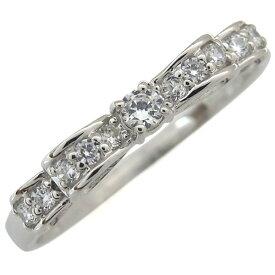 リボン ダイヤモンドリング 誕生石 指輪 18金 ダイヤモンド リング ダイヤ ピンキーリング ファランジリング プレゼント ジュエリー クリスマス