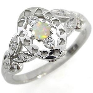 オパール エンゲージリング アンティーク エンゲージリング 婚約指輪