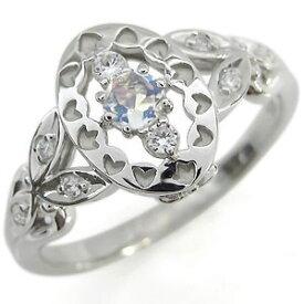 ロイヤルブルームーンストーン エンゲージリング アンティーク エンゲージリング 婚約指輪